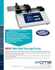 CMA 4004 Syringe Pump Data Sheet