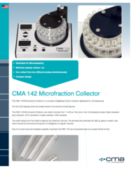 CMA 142 Microfraction Collector Product Note
