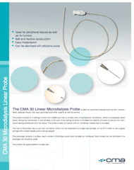 CMA 30 Linear Microdialysis Probe Data Sheet
