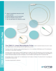 CMA 31 Linear Microdialysis Probe Data Sheet