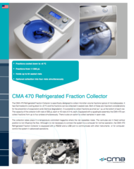 CMA 470 Refrigerated Fraction Collector Product Note